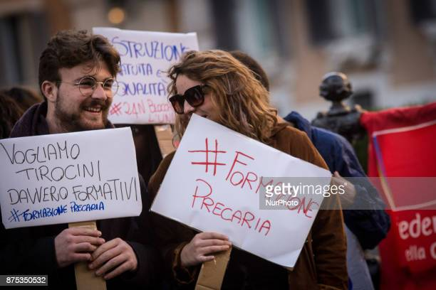 The International Day of the Flash Mob student at Piazza Montecitorio of the University Students Against Alternative SchoolWork Assembly of the...