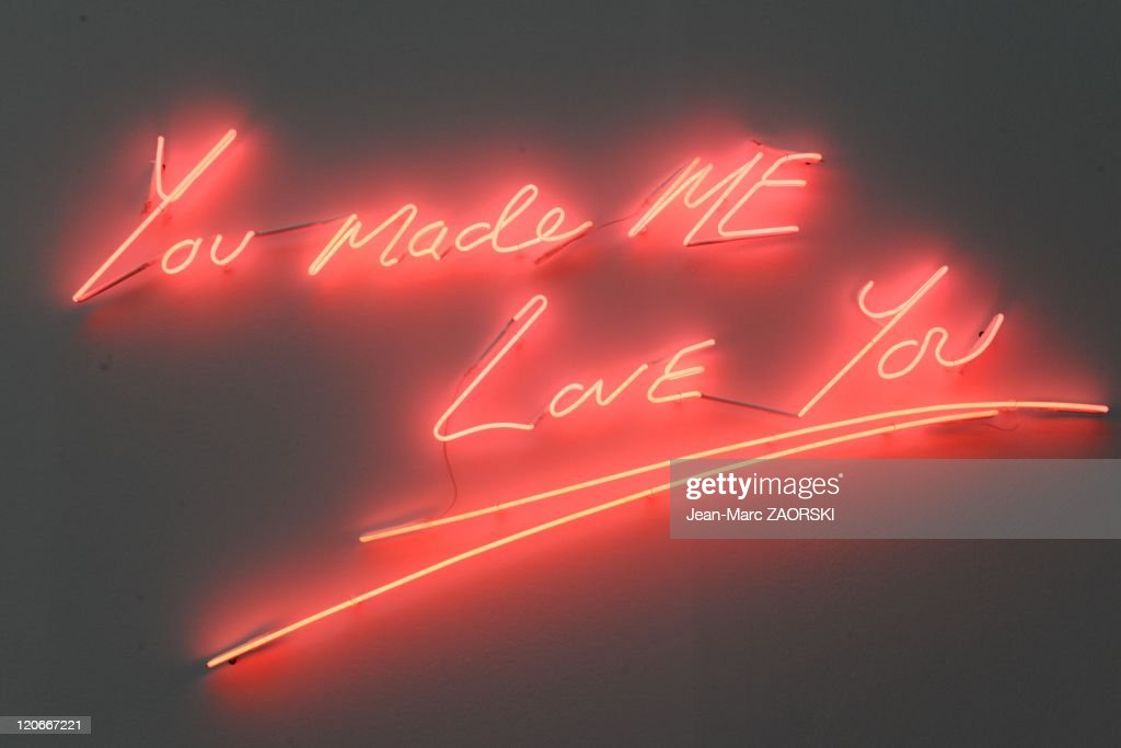 The International Exhibition of Contemporary Art in the Grand Palais in Paris France on October 23 2010 a Tracey Emin's work of art called 'You made...