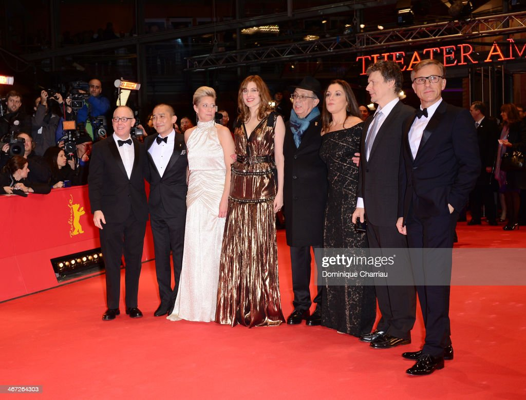The International jury of the 64rd Berlinale film festival (L to R) president of the jury <a gi-track='captionPersonalityLinkClicked' href=/galleries/search?phrase=James+Schamus&family=editorial&specificpeople=628217 ng-click='$event.stopPropagation()'>James Schamus</a>, Chinese actor Tony Leung, Danish actress <a gi-track='captionPersonalityLinkClicked' href=/galleries/search?phrase=Trine+Dyrholm&family=editorial&specificpeople=776225 ng-click='$event.stopPropagation()'>Trine Dyrholm</a>, US actress <a gi-track='captionPersonalityLinkClicked' href=/galleries/search?phrase=Greta+Gerwig&family=editorial&specificpeople=4249808 ng-click='$event.stopPropagation()'>Greta Gerwig</a>, US producer <a gi-track='captionPersonalityLinkClicked' href=/galleries/search?phrase=Barbara+Broccoli&family=editorial&specificpeople=2206655 ng-click='$event.stopPropagation()'>Barbara Broccoli</a>, French director <a gi-track='captionPersonalityLinkClicked' href=/galleries/search?phrase=Michel+Gondry&family=editorial&specificpeople=216337 ng-click='$event.stopPropagation()'>Michel Gondry</a>, Austrian actor <a gi-track='captionPersonalityLinkClicked' href=/galleries/search?phrase=Christoph+Waltz&family=editorial&specificpeople=4276914 ng-click='$event.stopPropagation()'>Christoph Waltz</a> and festival director <a gi-track='captionPersonalityLinkClicked' href=/galleries/search?phrase=Dieter+Kosslick&family=editorial&specificpeople=213030 ng-click='$event.stopPropagation()'>Dieter Kosslick</a> attend 'The Grand Budapest Hotel' Premiere during the 64th Berlinale International Film Festival at Berlinale Palast on February 6, 2014 in Berlin, Germany.