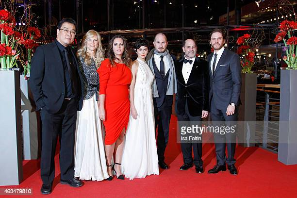 The International Jury with Bong Joonho Martha De Laurentiis Claudia Llosa Audrey Tautou Darren Aronofsky and Daniel Bruehl attend the Closing...
