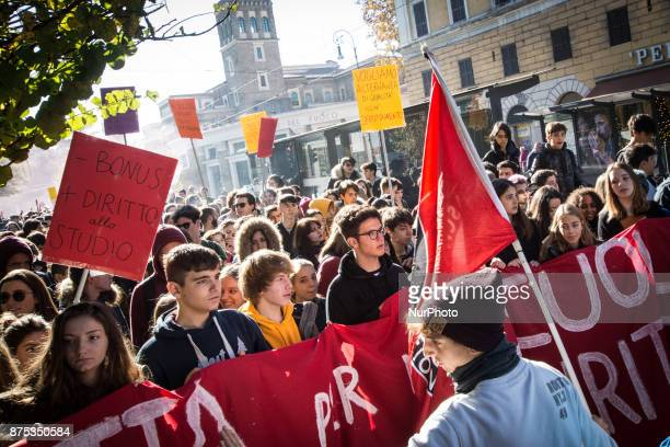 the international student day demonstration to protest against the socalled Good School reform the schoolwork alternation and in defense of public...