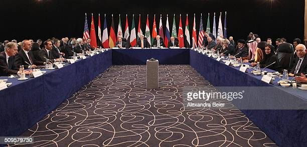 The International Syrian Support Group is pictured ahead of the International Munich Security Conference on February 11 2016 in Munich Germany ISSG...
