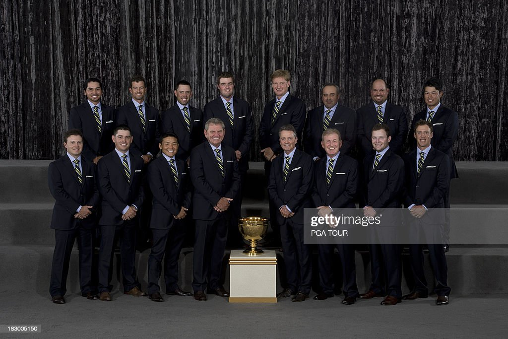 The International Team poses for their formal team photo prior to the Opening Ceremony for The Presidents Cup on October 2, 2013 in Columbus, Ohio.