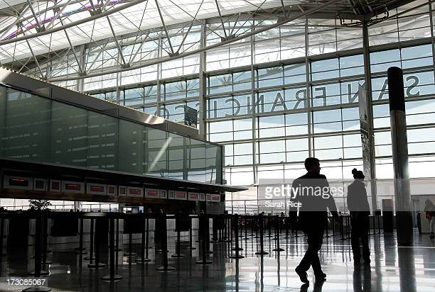 The international terminal is closed at San Francisco International Airport on July 6 2013 in San Francisco California A Boeing 777 Asiana Airlines...