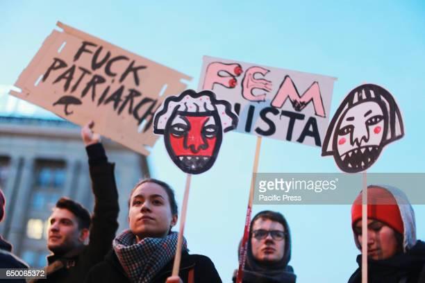 The International Women's Strike held a massive demonstration on International Women's Day in Warsaw Poland