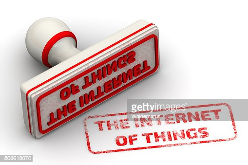 The Internet of Things. Seal and imprint : Stock Photo
