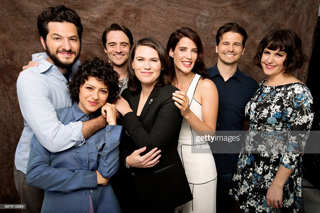 'The Intervention' cast Ben Schwartz, Alia Shawkat, Jason Ritter, Clea DuVall, Cobie Smulders, Vincent Piazza, and Melanie Lynskey are photographed for Los Angeles Times on July 7, 2016 in Los Angeles, California.