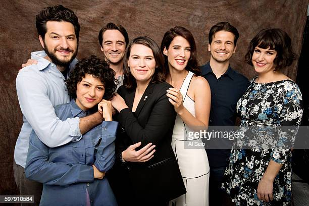 'The Intervention' cast Ben Schwartz Alia Shawkat Jason Ritter Clea DuVall Cobie Smulders Vincent Piazza and Melanie Lynskey are photographed for Los...
