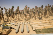 the intervention of the French army in Mali paratroopers and legionnaires in the valley of Ametatai and Iforas weapons and ammunition taken to the...