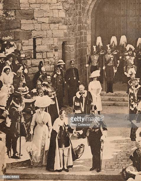 The investiture of the Prince of Wales at Caernarvon Castle 13 July 1911 At the King`s Gateway the Prince surprised and delighted the Welsh nation by...