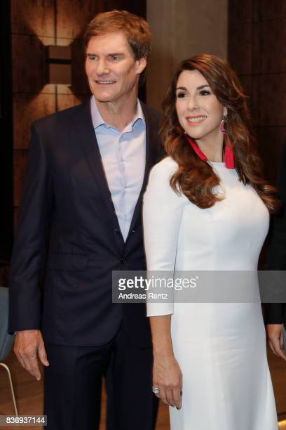 The investors Carsten Maschmeyer and Judith Williams pose during the photo call for the fourth season of the TV show 'Die Hoehle der Loewen' on...