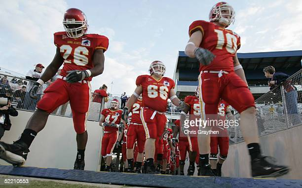 The Iowa State University Cyclones enter Independence Stadium for the Independence Bowl against the Miami University of Ohio RedHawks on December 28...