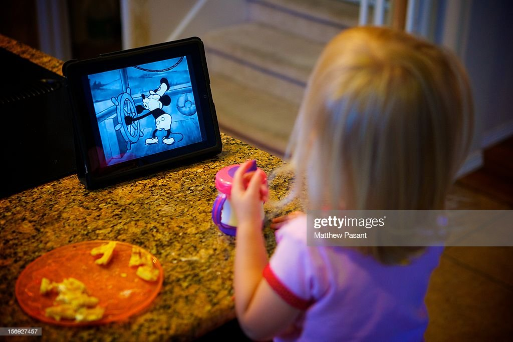 "The ipad may be ""magical"" and ""revolutionary"" but to our little girl it is a way to watch her favorite Mickey Mouse shorts - that is her association with the ipad - Mickey Mouse shorts. This morning she climbed up onto a stool - wanted to eat her breakfast at the counter - and when she saw Dad with the ipad in hand - she looked sheepishly at me and asked ""Watch Mickey's?"" As if I could say no... On a side note, can one ever question the genius of Walt Disney, with all the focused children's programming and cartoons today, the 82 year old, black and white, Steamboat Willie continues to put smiles on children's faces."