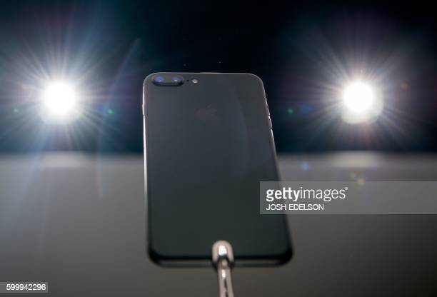 The iPhone 7 Plus is seen on display during an Apple media event at Bill Graham Civic Auditorium in San Francisco California on September 7 2016...