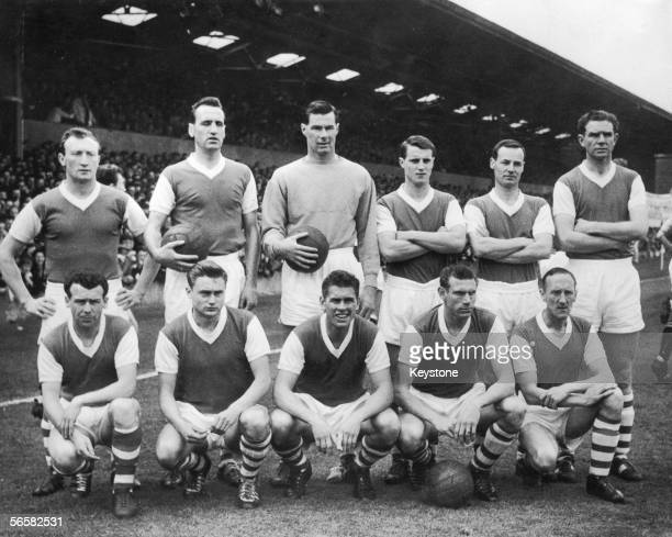 The Ipswich team which beat Aston Villa 20 a few days earlier to win the First Division championship 30th April 1962 From left to right Larry...