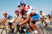 The Iraqi national cycling team maintains a tight pack as they conduct their September 29 2003 morning practice in Baghdad Iraq Although training on...