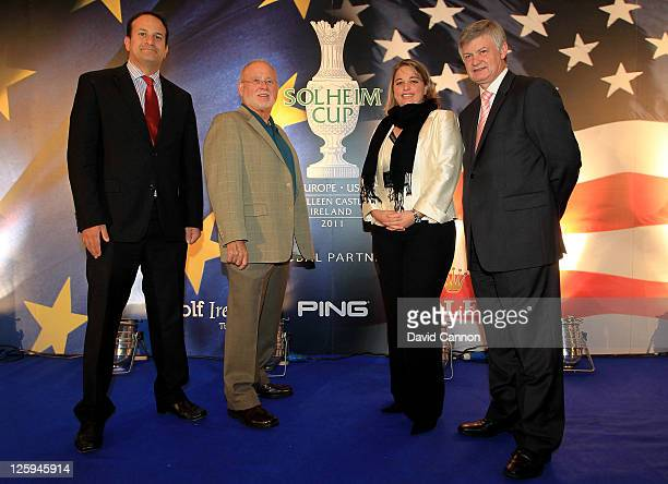 The Irish Minister for Transport Tourism and Sport Leo Varadkar Chairman CEO of Ping John Solheim Executive Director of the Ladies European Tour...