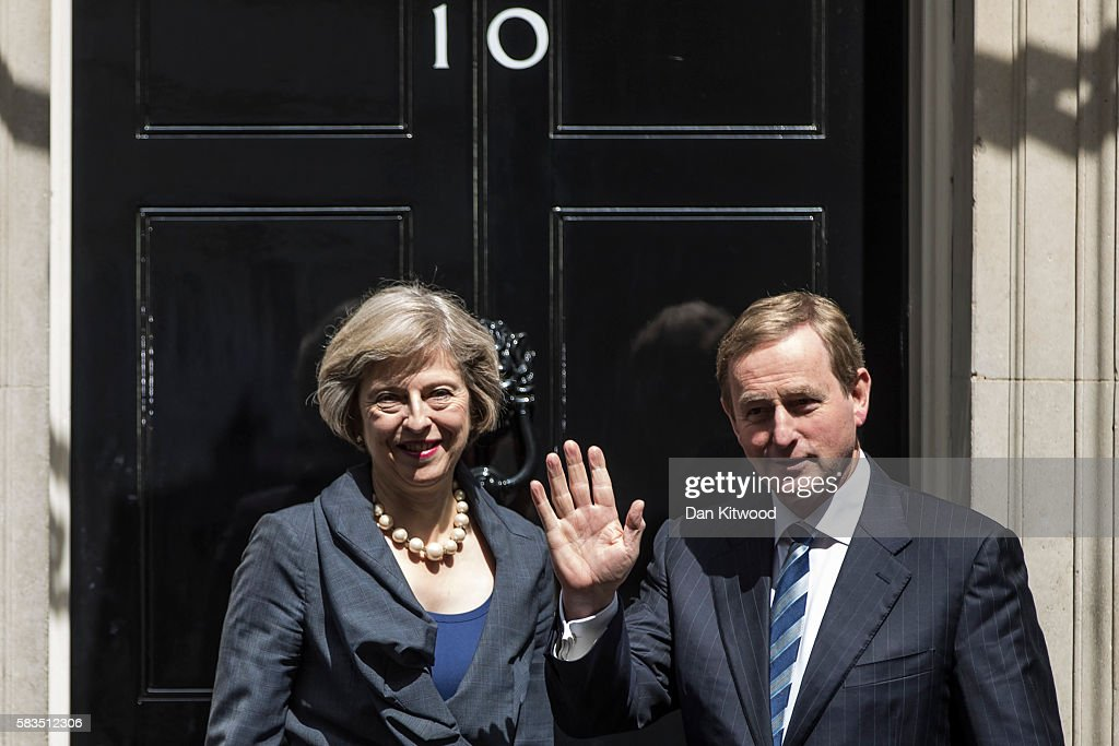 Irish Taoiseach Enda Kenny Arrives For Talks With Theresa May In Downing Street