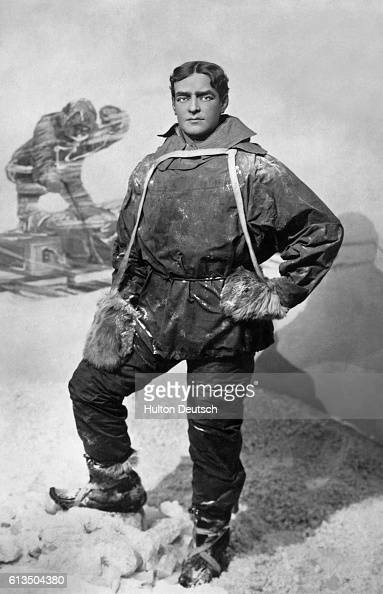 The Irishborn English explorer Sir Ernest Shackleton He led several Antarctic expeditions and located the South magnetic pole during his 19071909 one