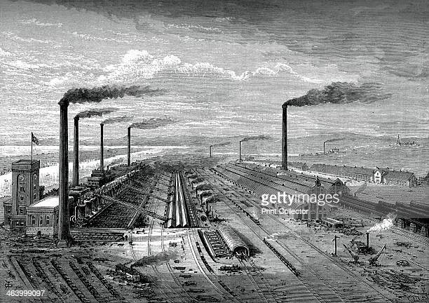 The iron and steel works at Barrow c1880 A print from Great Industries of Great Britain Volume I published by Cassell Petter and Galpin