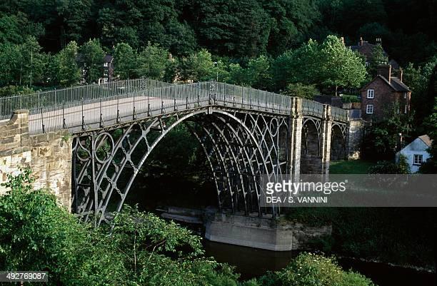 The iron bridge over the River Severn Ironbridge Gorge England United Kingdom