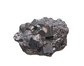 The iron ore on a white background .