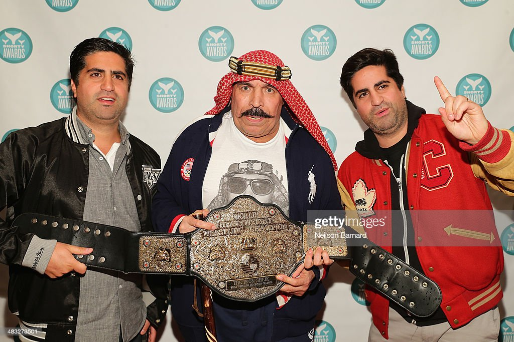 The Iron Sheik (C) attends the 6th Annual Shorty Awards on April 7, 2014 in New York City.