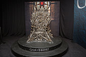 The Iron Throne display at the Hall of Faces presented by the HBO hit series 'Game of Thrones' at ComicCon International Day 3 on July 22 2016 in San...