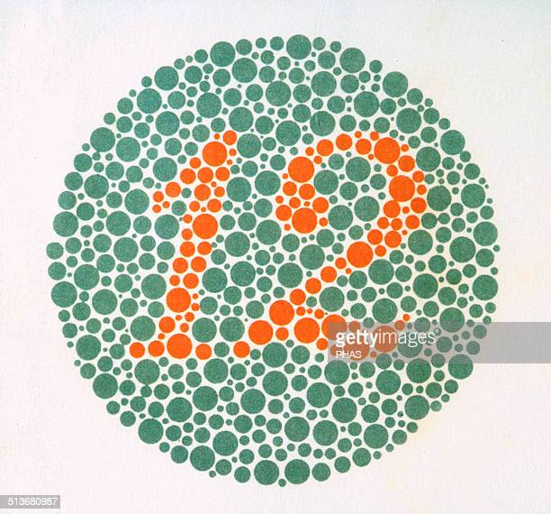 The Ishihara Color Test Color perception test for redgreen color deficiencies Ishihara Plate No 1