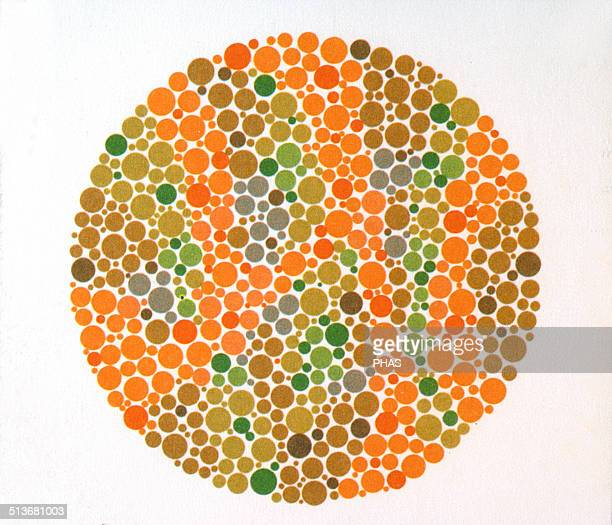 The Ishihara Color Test Color perception test for redgreen color deficiencies Ishihara Plate No 4
