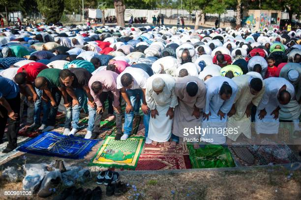 BATTIPAGLIA SALERNO CAMPANIA ITALY The Islamic Holiday of Eid AlFitr as a tradition at the end of Ramadan the Islamic holy month of fasting with the...