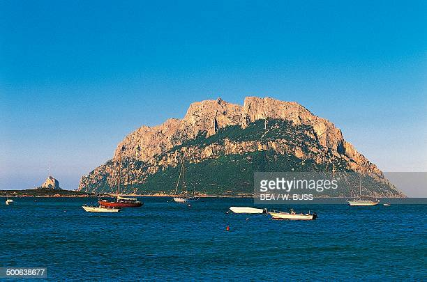 The island of Tavolara seen from Porto San Paolo Sardinia Italy