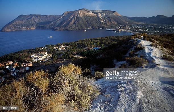 The island of Vulcano seen from Vulcanello Aeolian islands Sicily Italy
