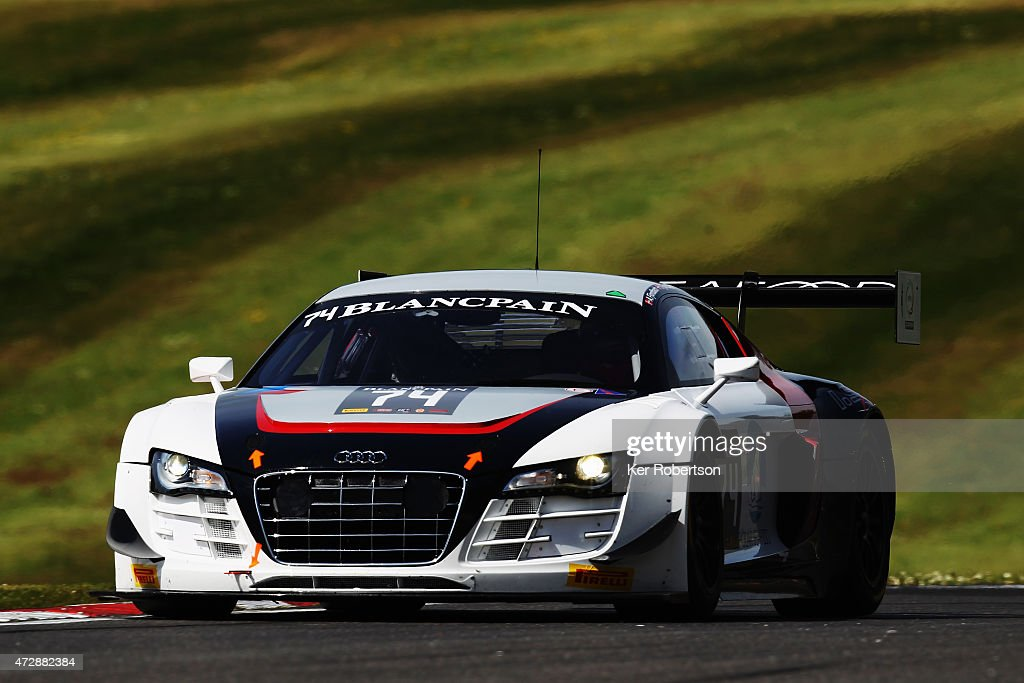 The ISR Audi R8 LMS Ultra of Anders Fjordbach and Thomas Fjordbach drives in the Qualifying Race during the Blancpain GT Sprint Series event at...