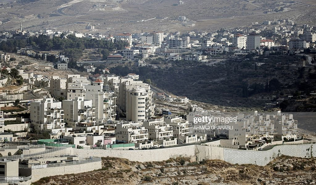 The Israeli settlement of Har Homa built in East Jerusalem is seen in front of the West Bank city of Bethlehem on September 1 2014 Israel said it...