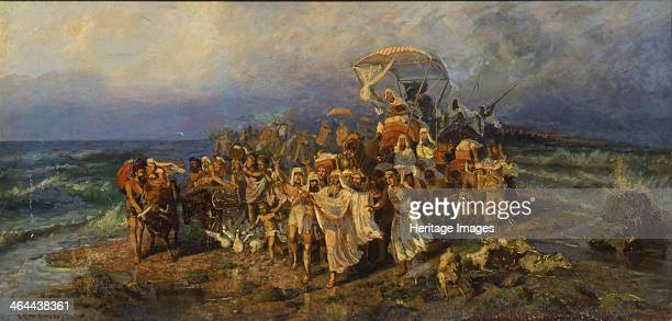 The Israelites crossing of the Red Sea Second Half of the 19th cen Found in the collection of the State Museum of History Architecture and Art Rybinsk