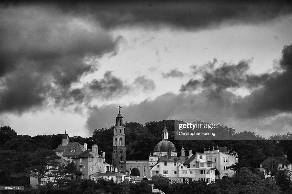 The Italaniate village of Portmeirion sits on the hill overlooking the sea as festival fans arrive for Festival No. 6 on September 13, 2012 in Portmeirion, United Kingdom. The classic Italianate village of Portmeirion in North Wales is staging its second No. 6 Festival, named after the famous 1960's cult TV series ''The Prisoner'' which was filmed in the village. The award winning three day festival is a kaleidoscope of entertainment with music, art and performances ranging from poetry to pop and classical music.