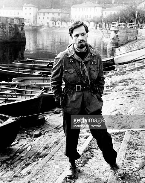 The Italian actor and director Lino Capolicchio acting in the film Last Days of Mussolini He plays the role of the commander of the 52nd Garibaldi...