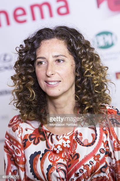 The Italian actress and standup comedian Teresa Mannino during a pressconference for the 'Fuoricinema' festival three days of outdoor film screenings...