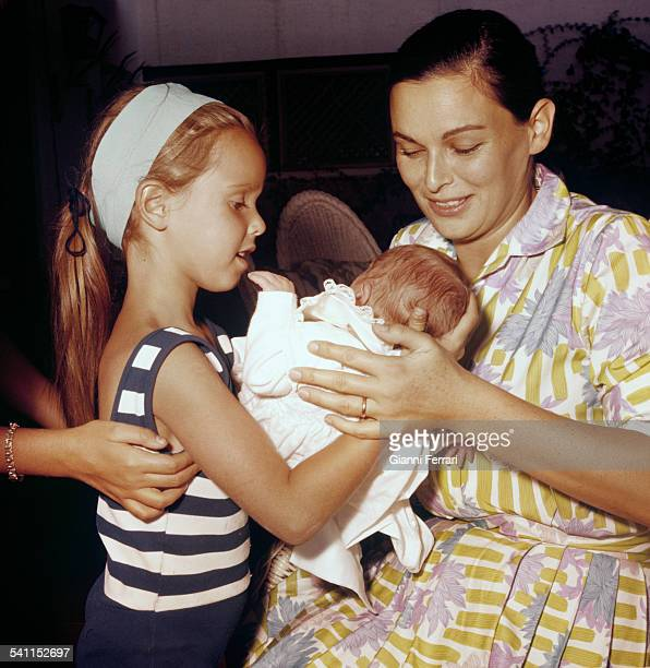 The Italian actress Lucia Bosé and her daughters Lucia and Paola Madrid Spain