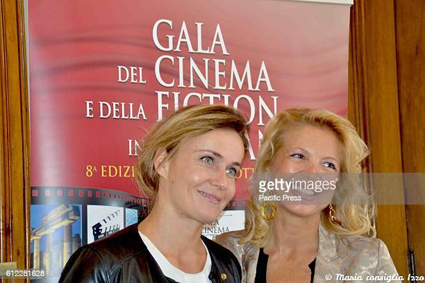 The italian actress Lucia Mascino and Valeria della Rocca during the press conference to present the eighth edition of 'Gala Cinema Fiction' was held...
