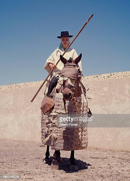 The italian actress Virna Lisi on the farm of the bullfighter Luis Miguel Dominguin Cuenca Castilla La Mancha Spain