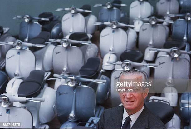 The Italian businessman Enrico Piaggio from the motorscooter company 'Vespa' 1962