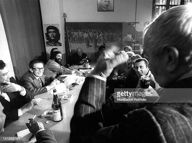 The Italian Communist Party General Secretary Enrico Berlinguer taking part in one of the Party's section assemblies in Milan Milan 1970's