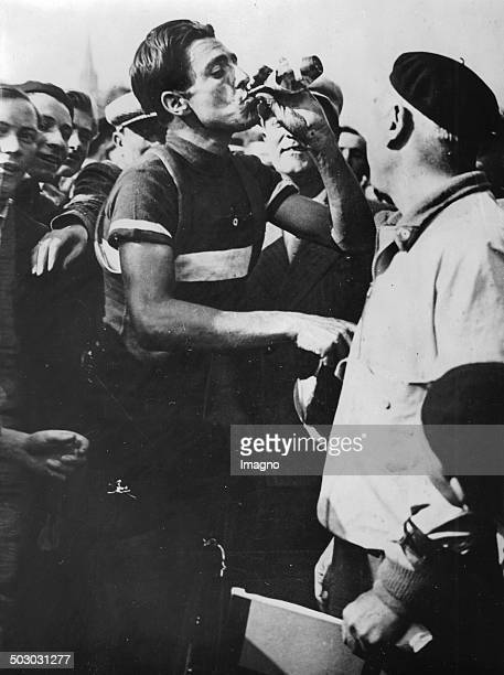 The Italian cyclist Raffaele di Paco as the winner of the third stage of the Tour de France Metz 1935 Photograph