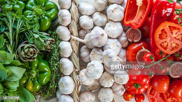 The Italian Flag Made Up Of Fresh Vegetables