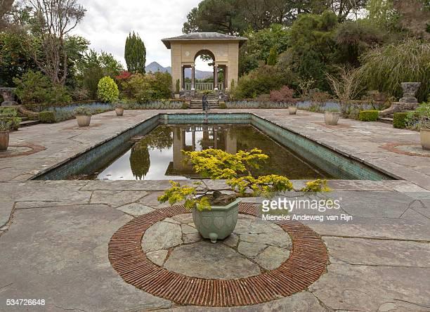 The Italian Garden on Garnish Island, or Illnaculin, in Bantry Bay, Beara Peninsula, County Cork, Ireland.