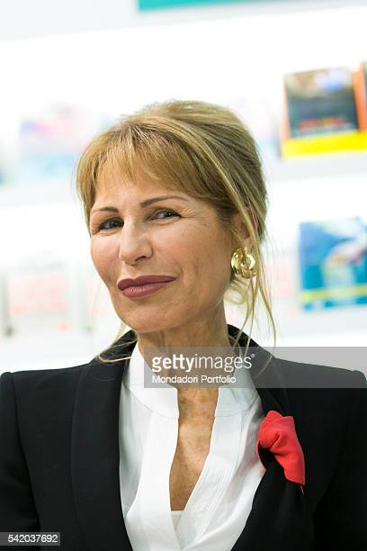The italian journalist Lilli Gruber during her speech at the XXIX International Book Fair in Turin Lingotto Fiere May 14 2016