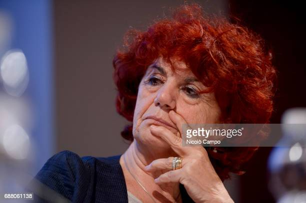 The Italian Minister of Education Valeria Fedeli attends the 30th Turin International Book Fair