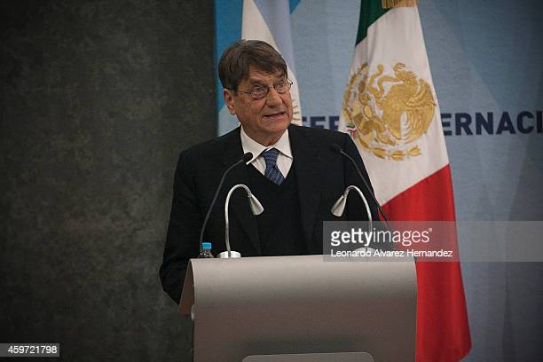 The Italian narrator essayist and translator Claudio Magris receives the FIL Award of Literature in Romance Langages during the opening day of the...
